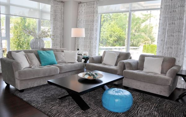 Brown And Grey Living Rooms