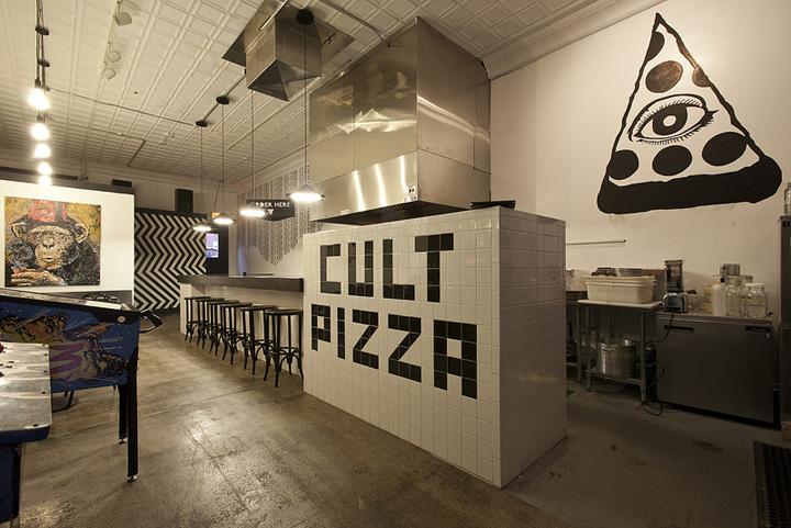 Интерьер пиццерии CVLT в Мичигане
