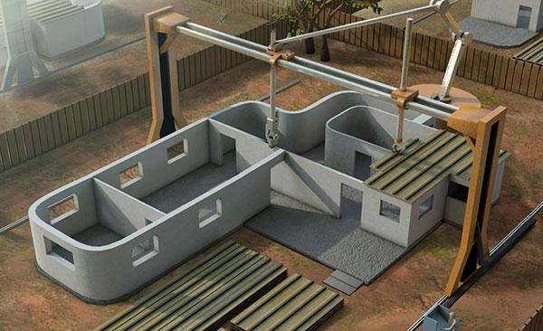 3D принтер, возводящий жилые дома