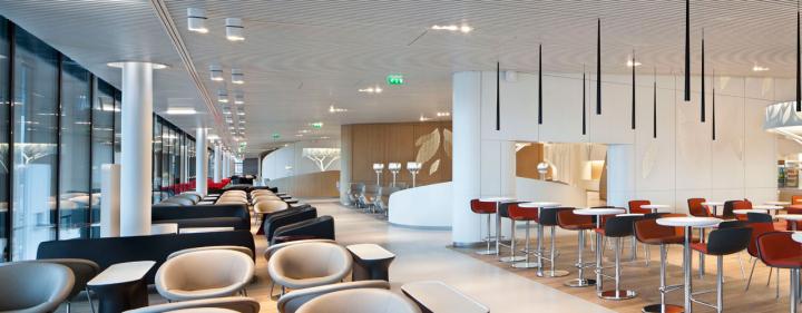 Концептуальный интерьер зала ожидания ап Шарль де Голль