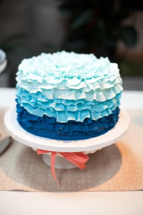 Синий торт своими руками 30