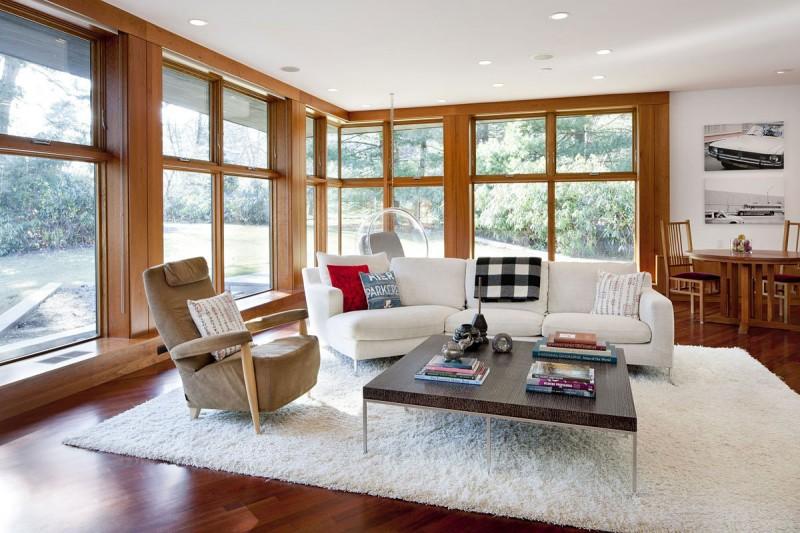 Американские дома: стильный современный особняк Chestnut Hill