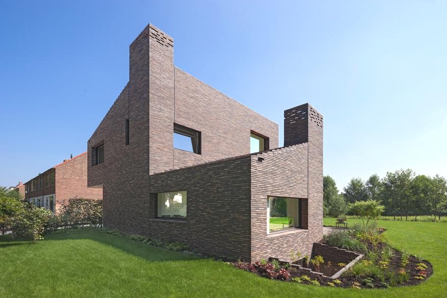Современные кирпичные дома проекты фото