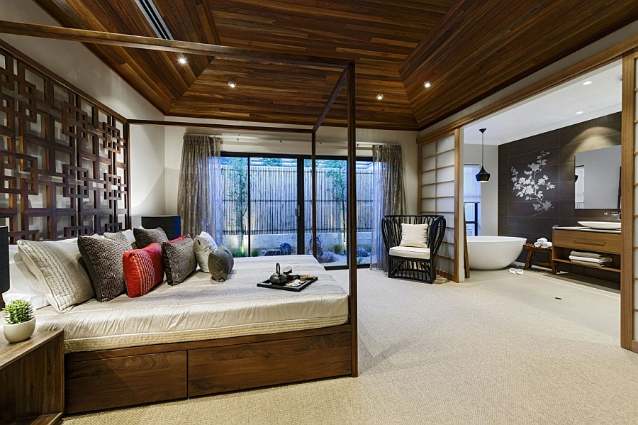 Умиротворяющий интерьер с элементами японского стиля