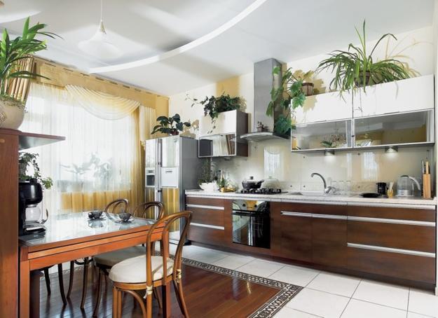 Оформление кухни в квартире переделали сам