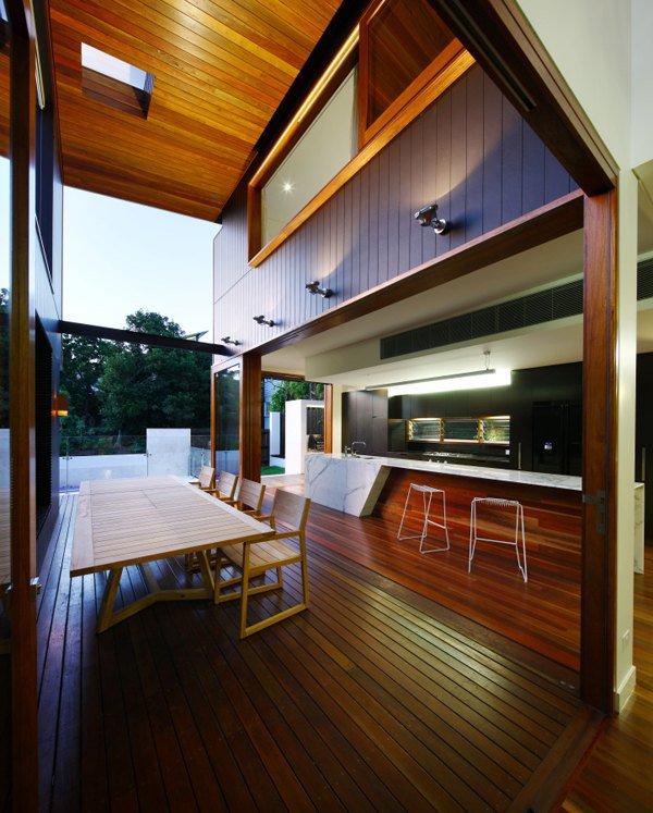 Интерьер столовой роскошного дома мечты