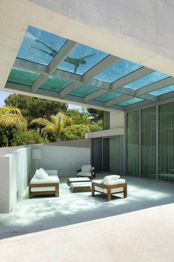Дизайн роскошного дома мечты с бассейном на крыше