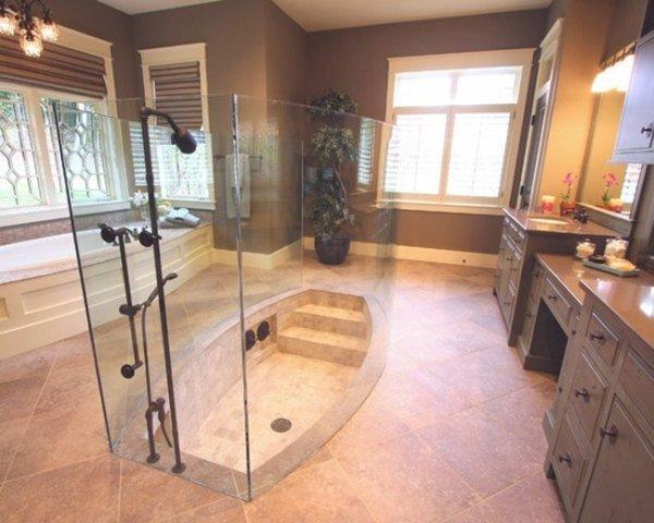 Интерьер ванной роскошного дома мечты