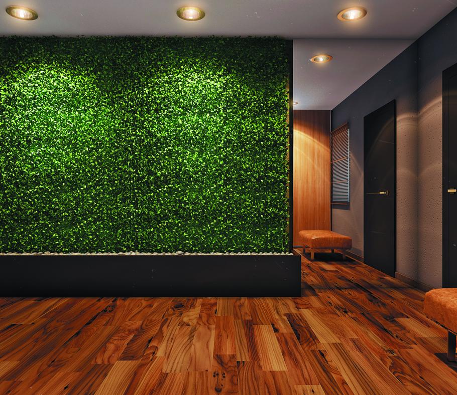 Дизайн стен в стиле эко
