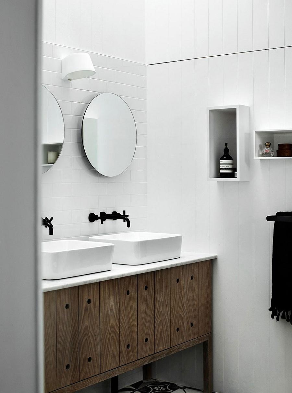 Ванная шикарного дома Edwardian Redbrick в Мельбурне