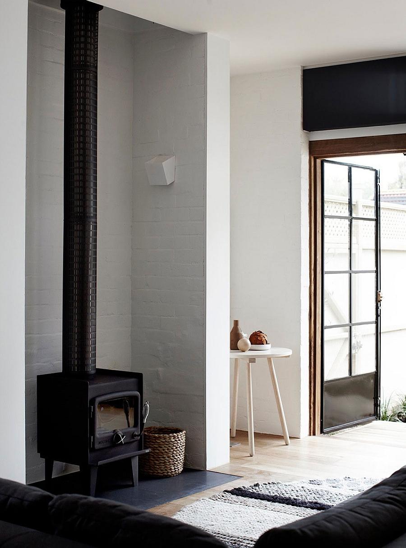 Гостиная шикарного дома Edwardian Redbrick в Мельбурне