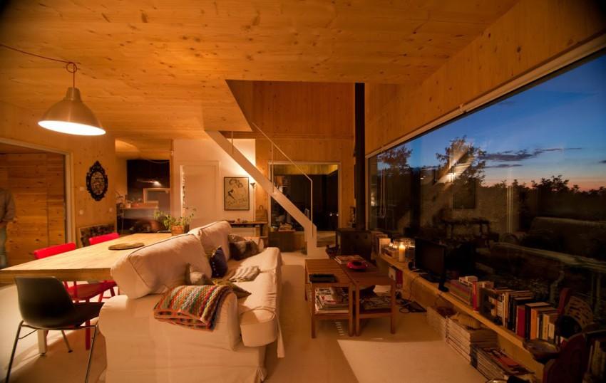 Изумительный проект двухэтажного дома с облицовкой деревом
