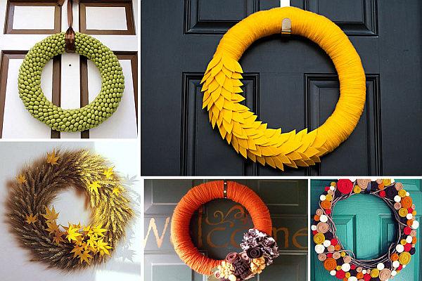 Осенние венки на дверь