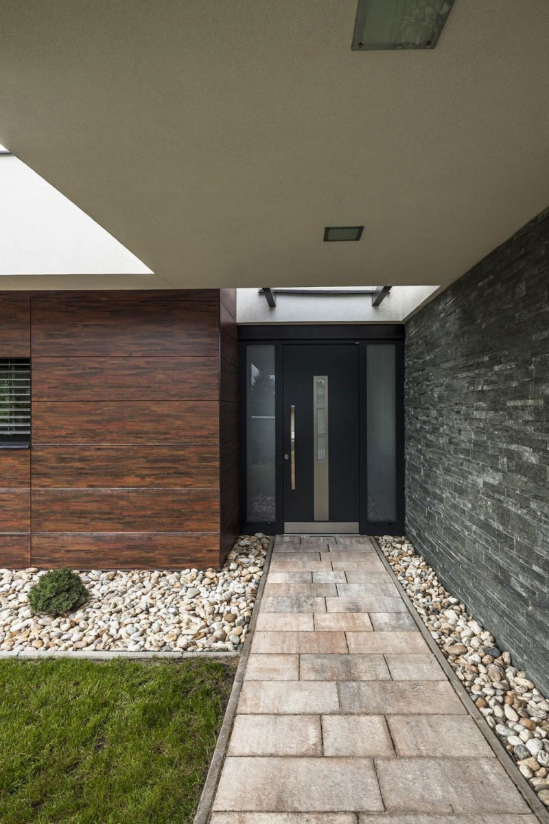 Стильный проект одноэтажного дома с плоской крышей