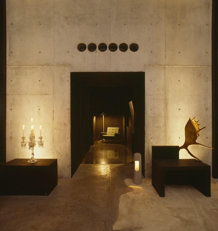 Интерьер отеля Hotel Habita MTY в Мексике