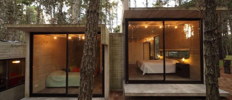 И снова мир стекла: креативная открытость лесного коттеджа от BAK Architects, Аргентина - Архитектура в них необычная, неожиданн