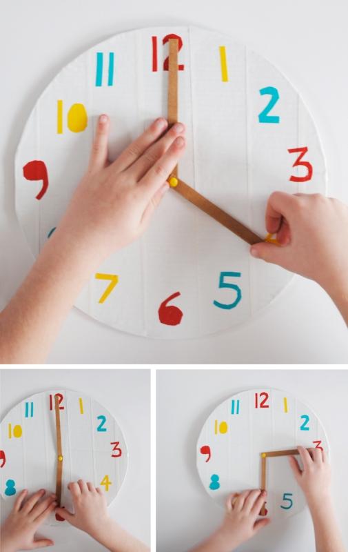 Как сделать из картона часы