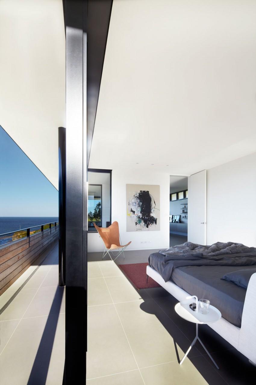 Спальня загородного дома на побережье Нового Южного Уэльса