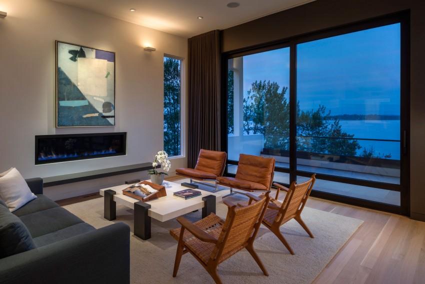 Проект дома на берегу озера: трёхэтажный особняк от CCS Architects