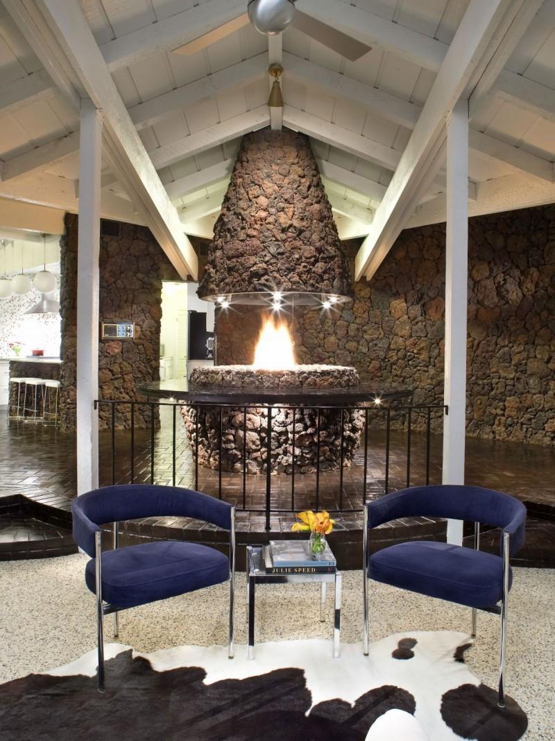 Гламурный дизайн интерьера загородного дома