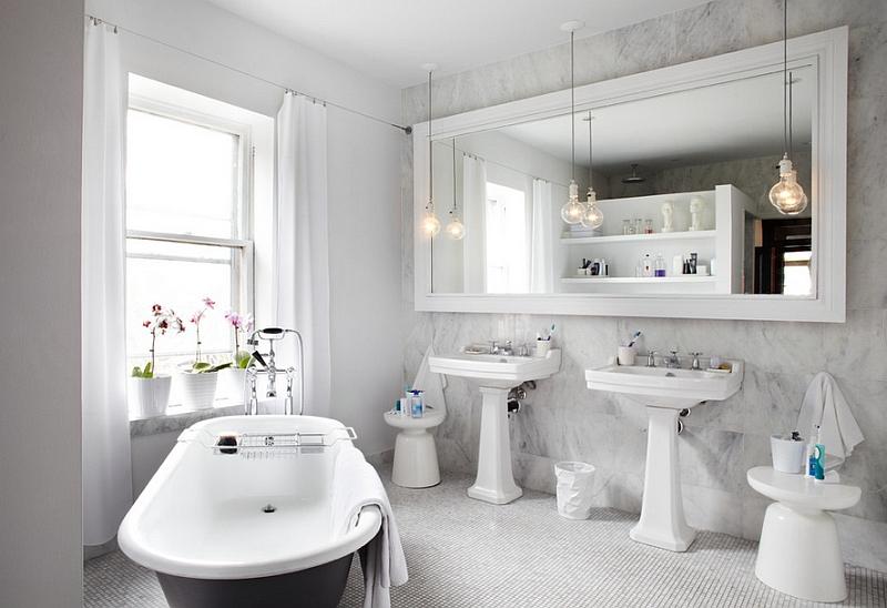 Модные тумбочки в интерьере ванной