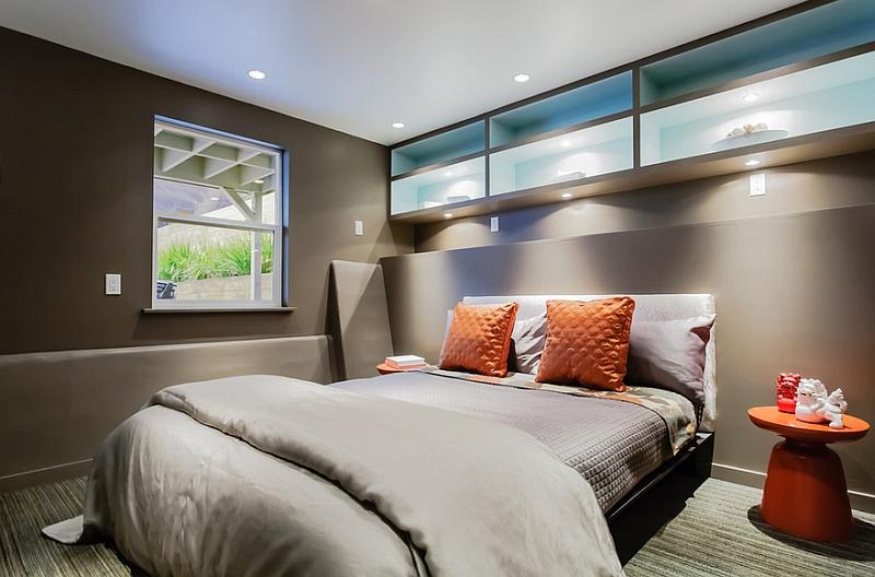 Модные тумбочки в интерьере спальни