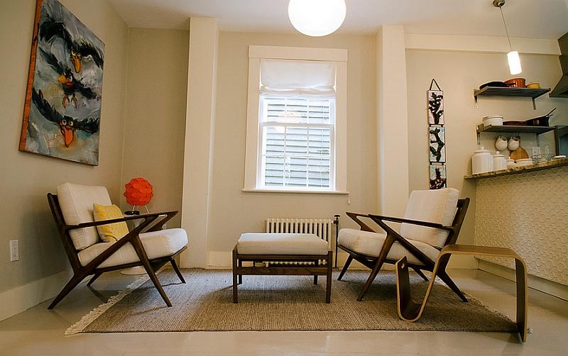 Модная тумбочка в интерьере гостиной
