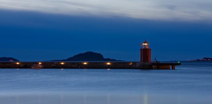 Старый маяк Molja в Норвегии