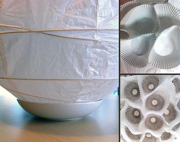 Изготовление люстры из формочек для кексов