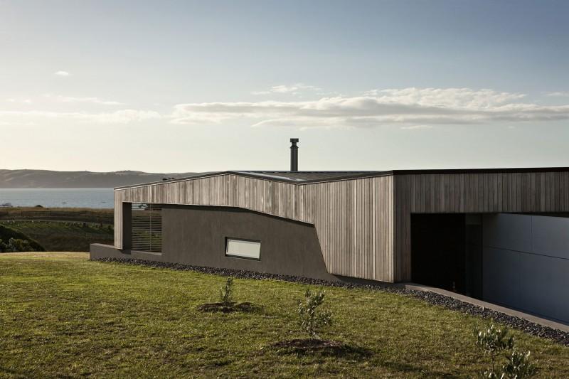 Дома на склоне с бассейном и террасой: особняк в Новой Зеландии