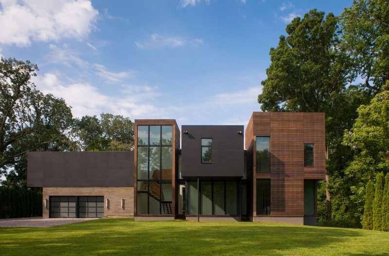 Дизайн домов США: современный модернизм в оформлении коттеджа