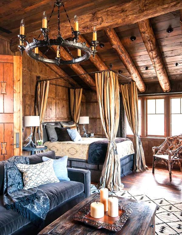 Квартира в стиле рустир
