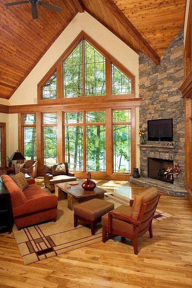 Тёплый интерьер гостиной