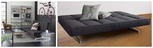 Стильный диван-кровать в интерьере гостиной