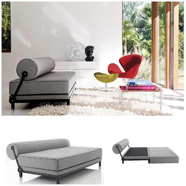Стильный серый диван в интерьере гостиной