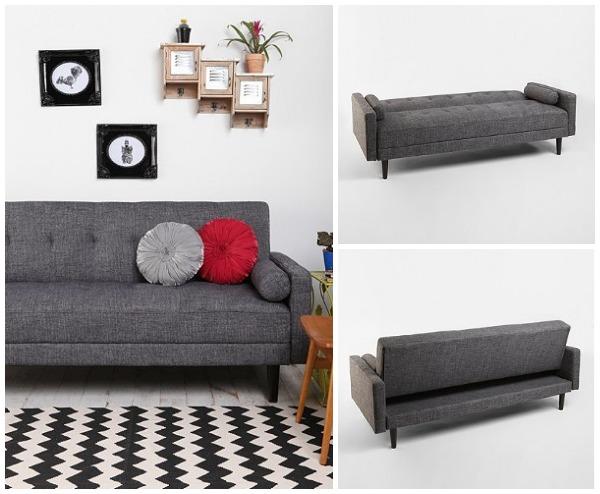 Стильный диван в интерьере гостиной