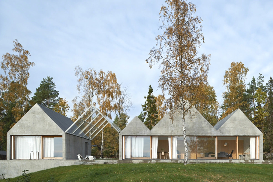 Дом в шведском стиле для летнего отдыха от Tham - Videgård ARKITEKTER