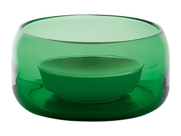 Двойное блюдо зелёного цвета