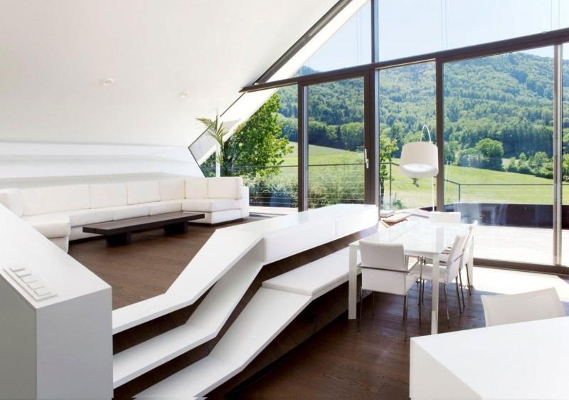 Асимметрия в архитектуре: Villa H в Зальцбурге с видом на Альпы