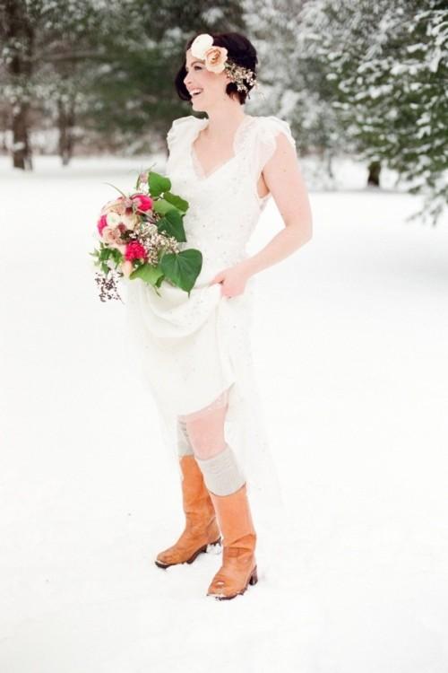 Зимняя свадебная обувь для невесты фото