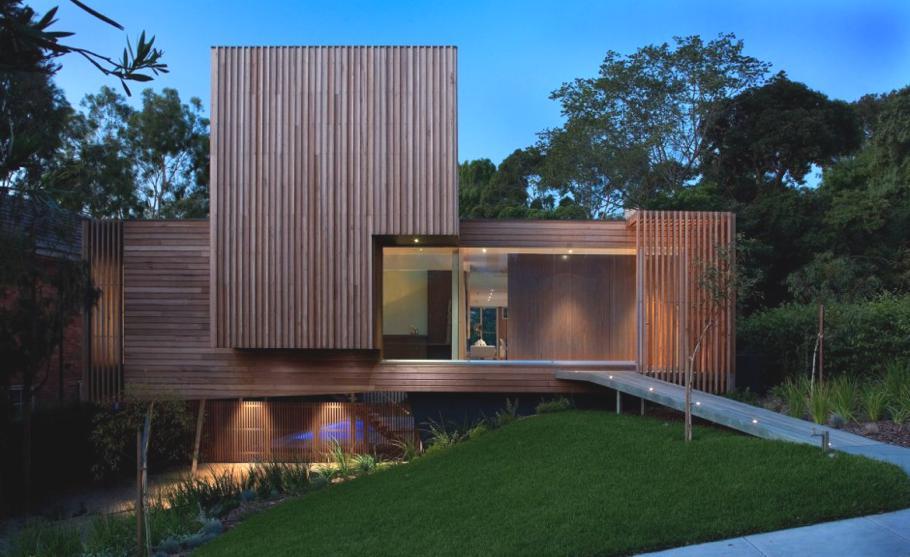 Дома из стекла и дерева: уютный Kew House 3 в Мельбурне
