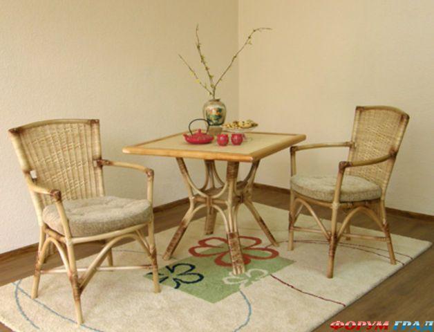 Набор мебель из ротанга в интерьере 10