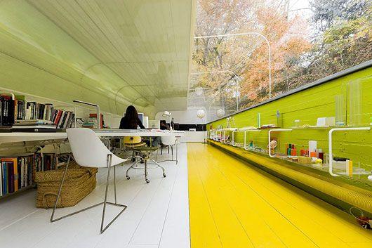 Эксклюзивный дизай интерьера архитектурного бюро Selgas Kano в Мадриде