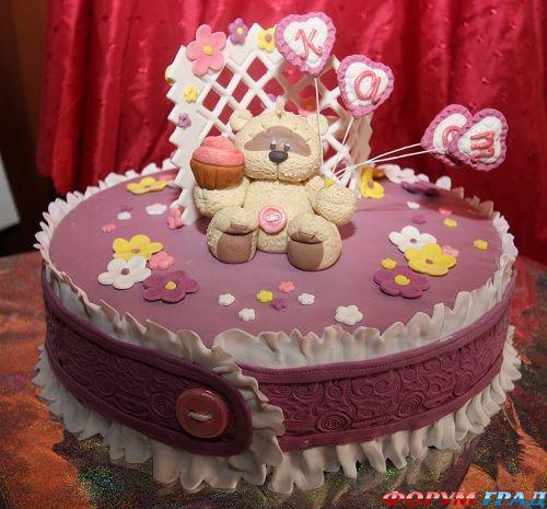 Торты для девочек на день рождения своими руками фото