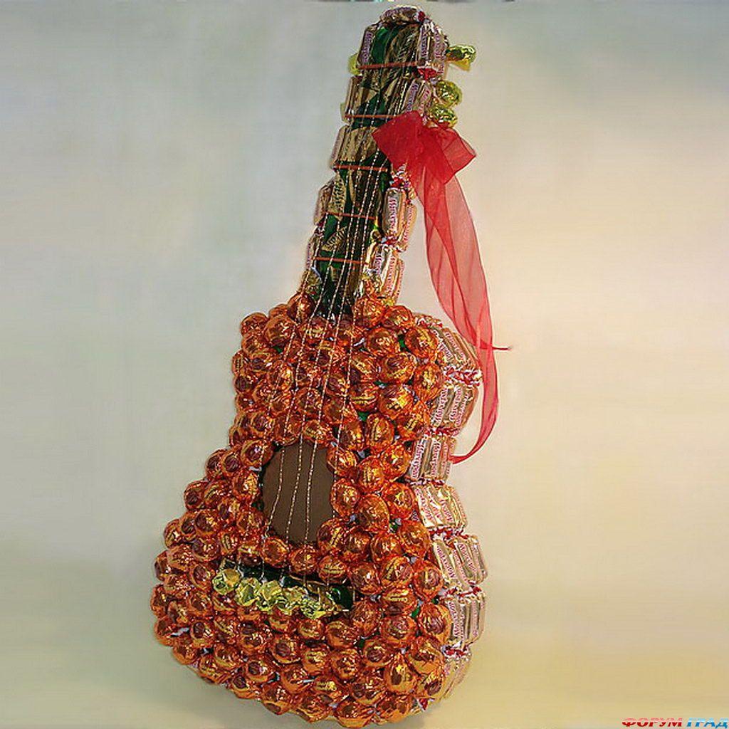 Подарок на день рождения с конфетами своими