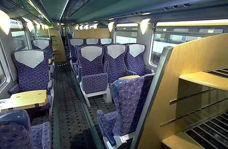 Также есть вагоны для курящих и некурящих.  Вагоны поездов дневного следования имеют только сидячие места.