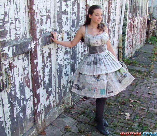 платье из газеты своими руками пошаговая инструкция