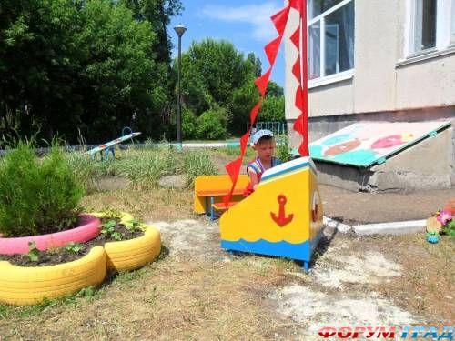 Фото оформление детских площадок своими руками