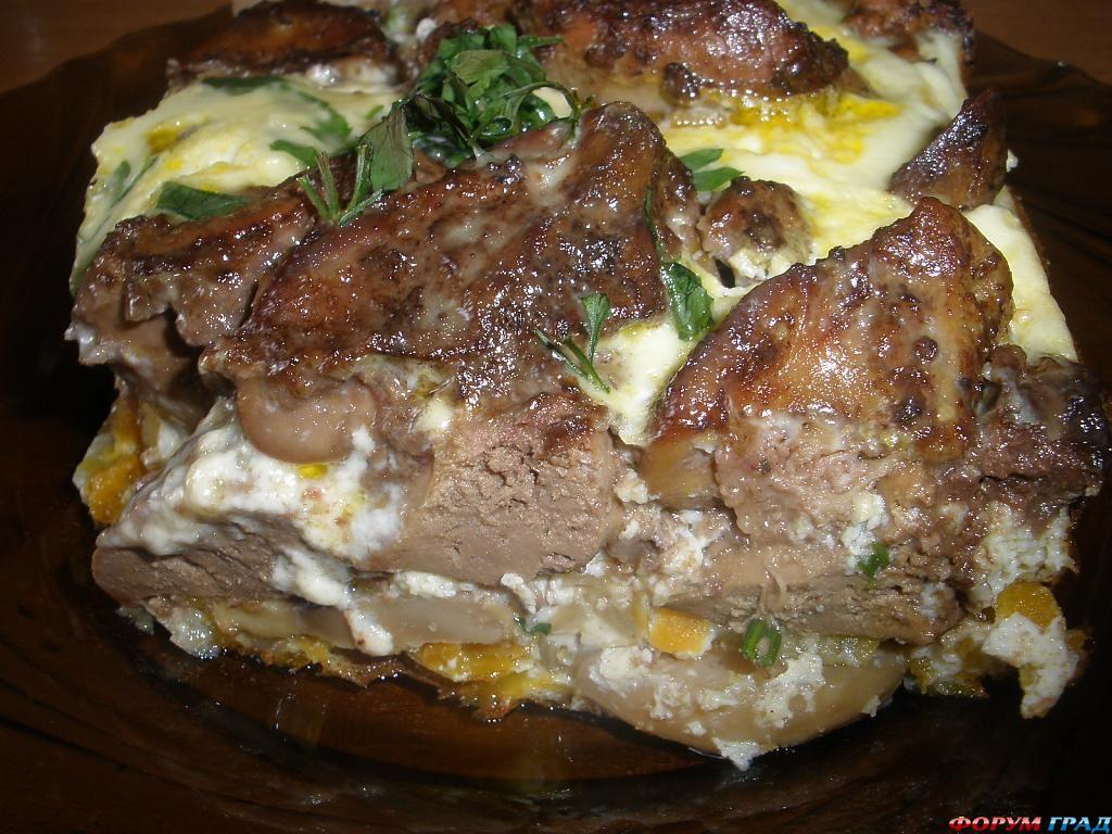 Блюда из куриной печени рецепты с фото простые и вкусные в мультиварке