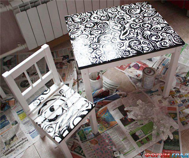 Роспись мебели своими руками - Фото-Град